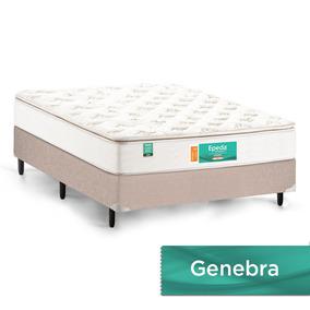 Colchão Casal Genebra Molas Lfk 2.2 Pillow Top A24 138x188c