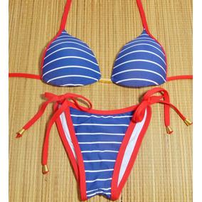 Biquini Com Bojo Marinheiro Azul - Moda Praia no Mercado Livre Brasil c429d10f9bd33