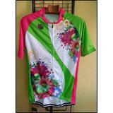 Camiseta Bike Flores Cilista Ciclismo Bicicleta