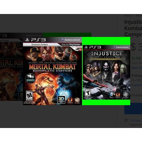 Injustice Ultimate E Mortal Kombat 9 Ps3 Psn Comprou Chegou