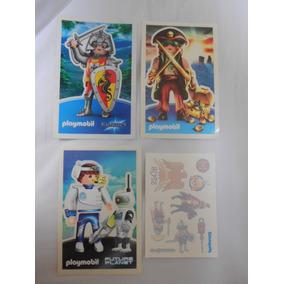 Playmobil Kit Com 4 Adesivos Guerreiro Pirata Planeta Futuro