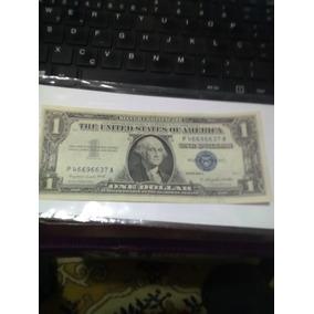 Cédula 1 Dolar , Selo Azul, Ano 1957 Serie A, Soberba+