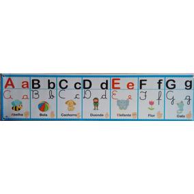 Painel Banner Alfabeto Ilustrado 4 Formas
