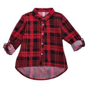 Blusa Elsa En Cuadros Rojos Para Niña Camisa Elsa Cuadros-8