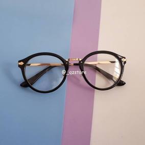 e6f49265a8250 Óculos Armação Nerd Redondo Preto Geek Outras Marcas - Óculos no ...