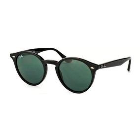 e3cbf752735a7 Óculos Sol Rb2180 Round Stylish Original Preto Verde G15