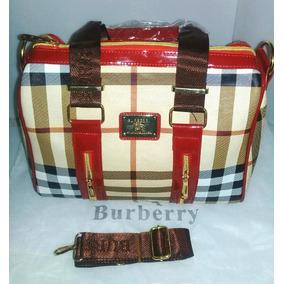 Bolsa Para Dama Burberry Beige/rojo