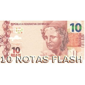10 Burning Money - Notas Flash 10 Reais