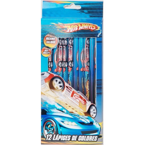 Hot Wheels 12 Lapices De Colores Art-1453