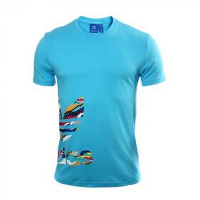 Playera adidas Originals Azul Hombre Bq3029 Look Trendy d50bbdc3db553