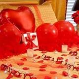 Kit Surpresa Dia Dos Namorados Pétalas Velas D Coração Frase