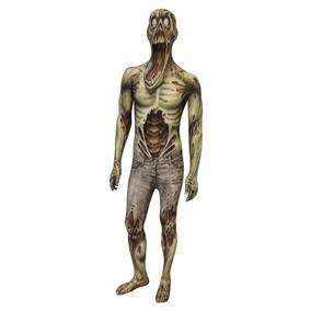 Disfraz Adulto Zombie Traje Licra Terror Miedo Halloween
