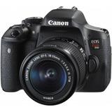 Cámara Reflex Canon Eos Rebel T6i Wifi Lente 18 55+ Tripie