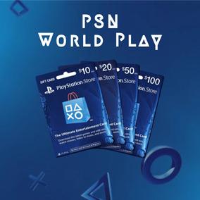 Playstation Network Psn Ps3 - Ps4 - 10 Psn World Play