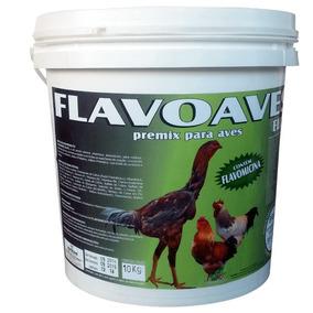 Flavoaves Elite 20 Kg Suplemento P/ Misturar Ração Agrocave