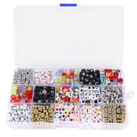 1100 Miçangas Letras Letrinhas Alfabeto Pulseiras Colar Bead
