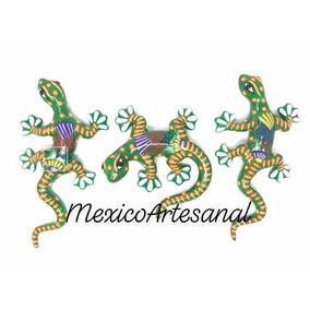 Juego De Iguanas Pintadas A Mano Ceramica