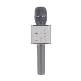 Microfono Con Parlante Uruz Q7 Plata