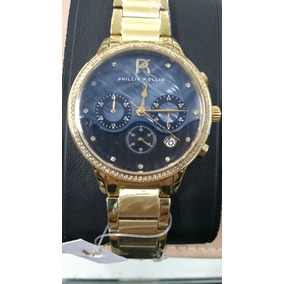 d1a000106fd Relógio Phillip Kollin Santorini Zy28010u Gold Blue Diamond