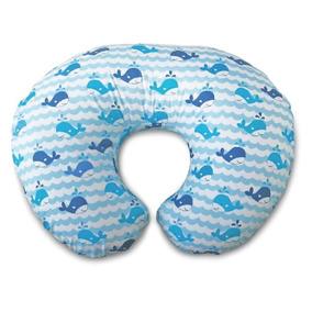 Boppy Almohadón De Amamantar Con Funda - Blue Whales