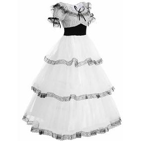 Disfraz de catrina con vestido blanco