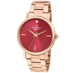 7454cf460c0 Relogio Fundo Vinho Feminino Champion - Relógios De Pulso no Mercado ...