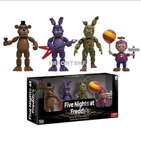 Five Nights At Freddys Foxy Freddy 4 Personagens Na Caixa