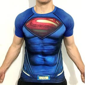 Playera Superman Dc Comics Superheroe Compresion Crossfit