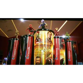 Vaso Avengers Infinity War Cinemex Con Figuras 299 Cada Uno