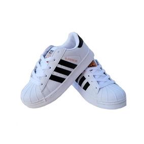 Vsv adidas Superstar De Niños Blanco Negro (tienda Fisica) f67de77a44cd