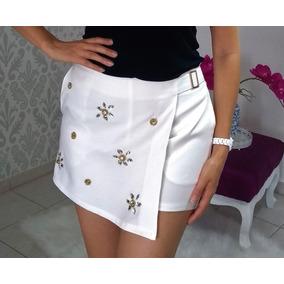 Shorts Saia Branco Com Brilho - Calçados 2194b043bbe90