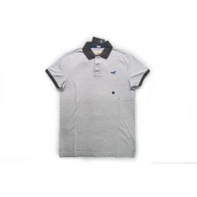 380f6579236b7 Camisa Camiseta Polo Hollister Epic Flex Stretch Cinza M