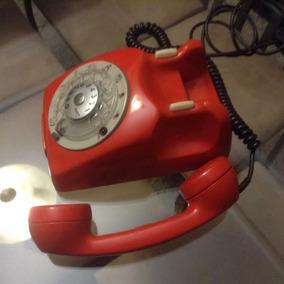 Antigo Telefone De Mesa Ericson. Vermelho / Original
