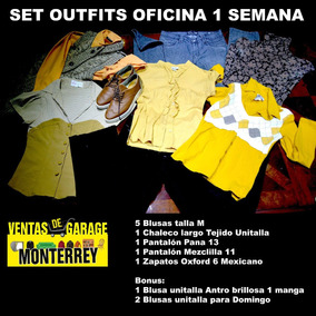 Lote Outfits 1 Semana Oficina Y Fin De Semana Talla M 12 Pza