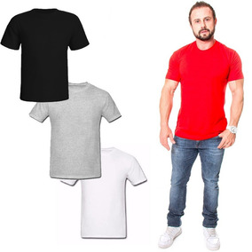 Kit 10 Camisetas Masculina Lisa Algodão Camisas Lisas Top