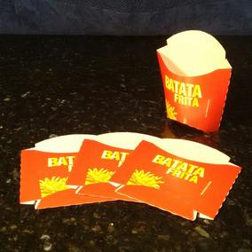 1000 Embalagem Batata Frita Caixa Tamanho P 10x8x3,5cm