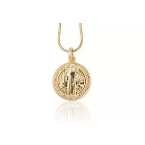 Medalha São Bento Ouro - Joias e Bijuterias no Mercado Livre Brasil 1fc6cf4668
