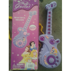 Guitarra Princesas Disney Musical 30x10cm Juguetes Teclados