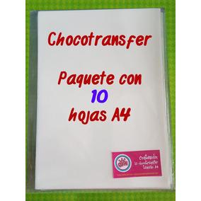 Paquete 10 Hojas De Chocotransfer Tamaño A4