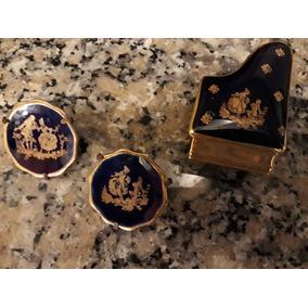Set 3 Piezas Miniatura Limoges France Antiguedad