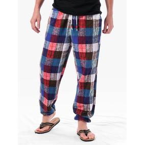 Pantalones De Chándal A A Cuadros Con Con Cordón