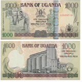 Billete Uganda 1000 Chelines 2009 Papel Moneda Unc