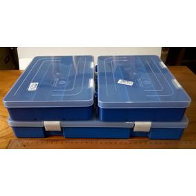 Kit C/3 Caixa Organiz. 1 Grande 36x 21cm + 2 Média 16x 21cm
