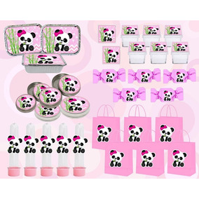 Kit Festa Infantil Panda Menina (rosa) 120 Peças