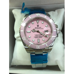 e0166db14cb Relogio Rolex Com Fundo Rosa Feminino - Relógios De Pulso no Mercado ...