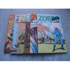 Kit Zorro Nº 1 Ao Nº 6 - Formatinho Ebal Original - 1976