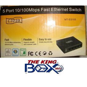 Switch Cidsu 5 Puertos 10/100 Mbps