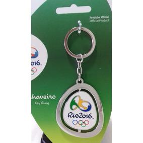 Chaveiro Olimpiadas Rio 2016 Logomarca Jogos Colecao Prata