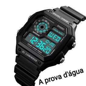 a5ff5b67eef Relogio A Prova Da Agua Quadrado - Relógios De Pulso no Mercado ...