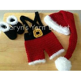 Conjunto Santa Pantalon Con Botas 0-3 Meses